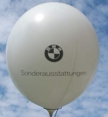 R265-32H-G Riesenluftballon Ø~100cm mit einem 3seitigen individuellen 2farbigen Aufdruck