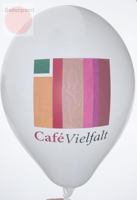 """WR085-2999-18PD/H-G  ~28cm Ballonfarbe MIX nach Angabe """" passgenau """" individuell bedruckt mit 1seitigem  8farbigen Aufdruck in Siebdrucktechnik, Ballonstutzen unten."""