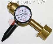 Z-DRGM Inflator Tap, Helium regulator with manometer and rubber valve