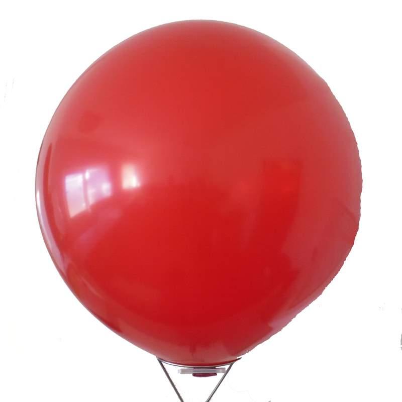 RR225  Ø80cm  ROT, Kugelrunder Riesenballon extra stark, Typ XL - unbedruckt. Bestens geeignet für Dekoration