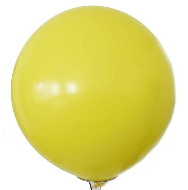 RR225  Ø80cm  GELB, Kugelrunder Riesenballon extra stark, Typ XL - unbedruckt. Bestens geeignet für Dekoration
