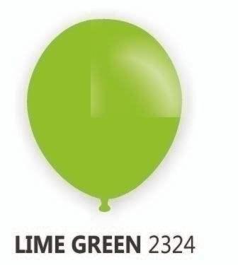 Ø 33cm    Apfel-/ZITRONEN GRÜN (Hellgrün) Rundballon Nennweite 33cm/12inch Modell R100T, Packung zu 100 Stück