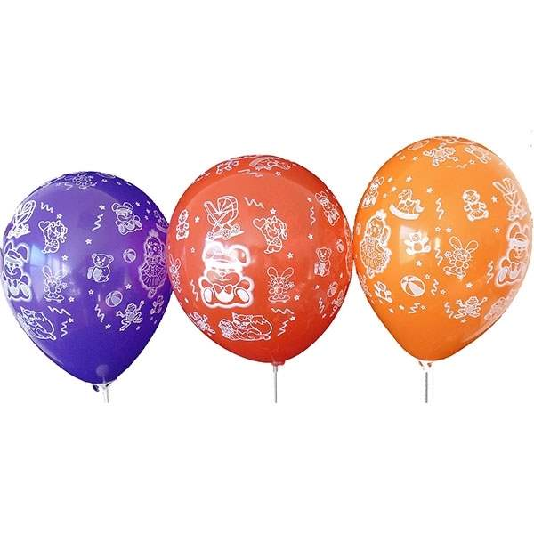 MR100-2999-51H-Girl motiv balloon, balloncolor assortet, price per pcs