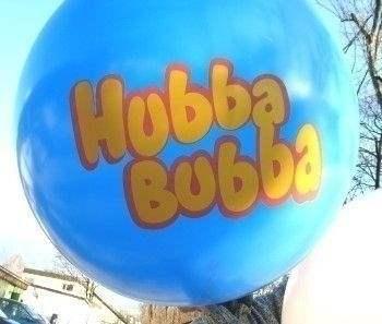 Ø 120cm Bunter MIX 1seitig - 2farbig bedruckt Riesenballon WR350-12, Ballonstutzen unten