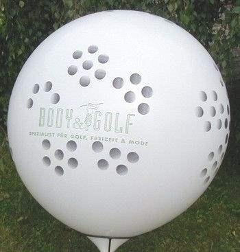 Ø 100cm -  bunter MIX, 5seitig - 1farbig bedruckt WR265-51 Riesenluftballon, Ballonstutzen unten