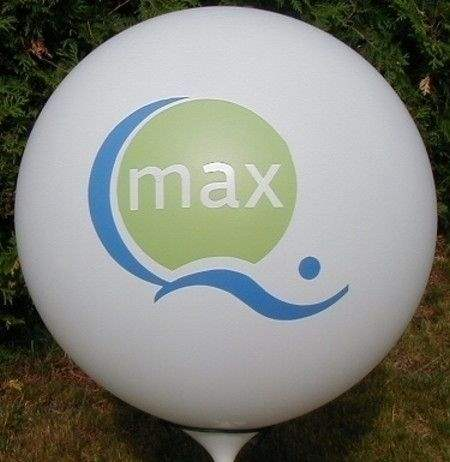 Ø 120cm Bunter MIX  2seitig - 2farbig bedruckt Riesenballon WR350-22, Ballonstutzen unten.