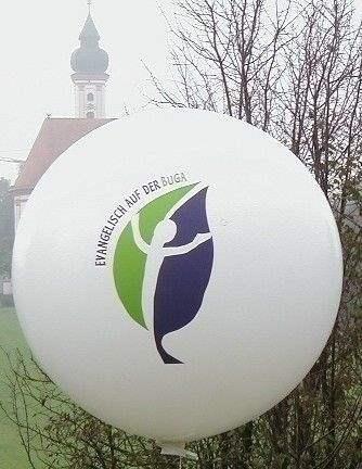 Ø 55cm - Bunter MIX, 3seitig - 2farbig bedruckter Riesenballon WR150-32,  Ballonstutzen unten