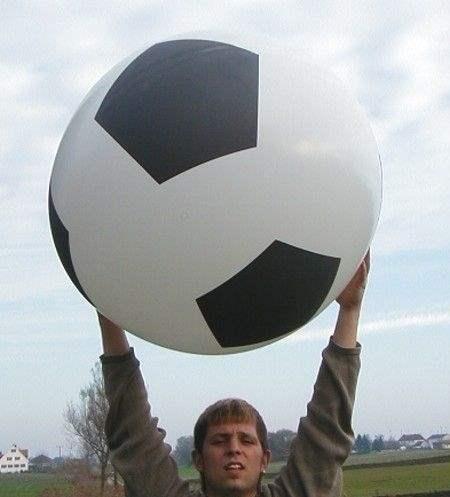 Ø  60cm  Bunter MIX, 5seitig 1farbig bedruckter WR175-51 Riesenluftballon, Ballonstutzen unten