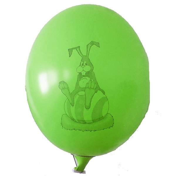 Ei mit Motiv01 Hase mit Osterei Ø 100cm GRÜN Rieseneiballon XXL (Ovale-form) , Typ MRS320