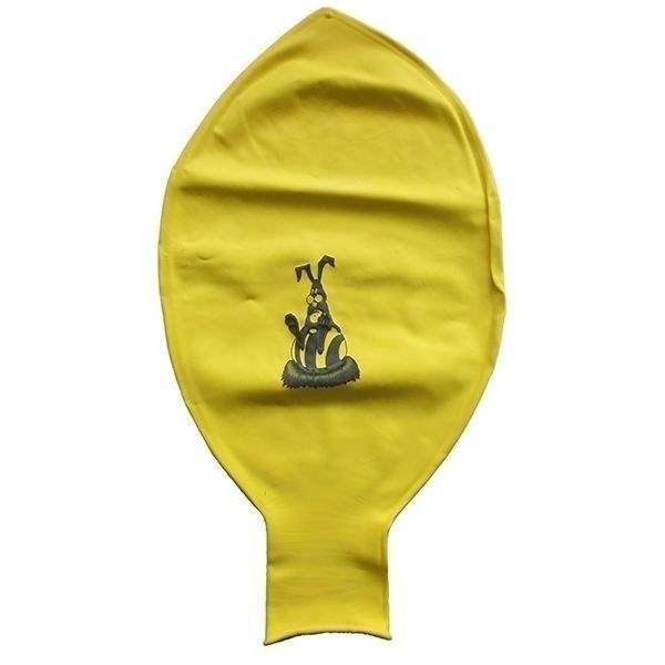 Ei mit Motiv01 Hase mit Osterei Ø 100cm Farbe GOLD (Sonderfarbe) Rieseneiballon XXL (Ovale-form) Typ MRS320