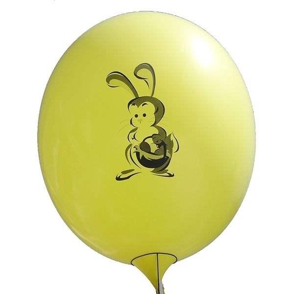 Ei mit Motiv02 Kücken mit Osterei Ø 100cm GELB Rieseneiballon XXL (Ovale-form)  Typ MRS320