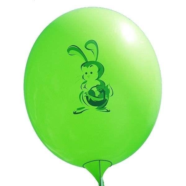 Ei mit Motiv02 Kücken mit Osterei Ø 100cm DUNKELGRÜN Rieseneiballon XXL (Ovale-form)  Typ MRS320