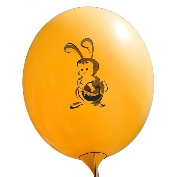 Ei mit Motiv02 Kücken mit Osterei Ø 100cm ORANGE Rieseneiballon XXL (Ovale-form) Typ MRS320