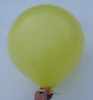 R150 Ø55cm     GELB,  Größe Riesenballon Typ S - unbedruckt