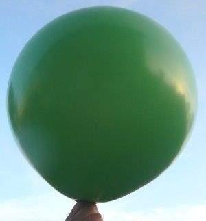 R150 Ø55cm     Dunkelgrün,  Größe Riesenballon Typ S - unbedruckt