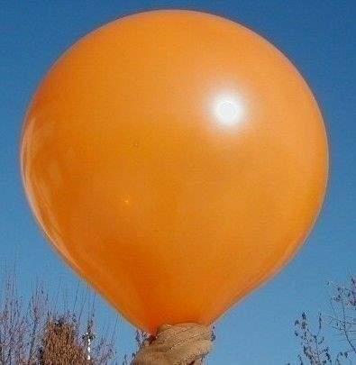 R150 Ø55cm     Orange,  Größe Riesenballon Typ S - unbedruckt