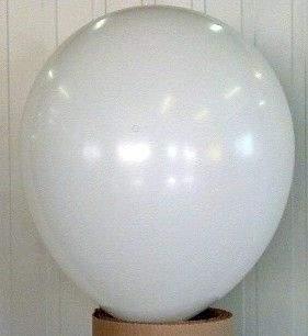 R150 Ø55cm     WEISS,  Größe Riesenballon Typ S - unbedruckt
