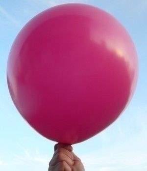 R150 Ø55cm     Magenta,  Größe Riesenballon Typ S - unbedruckt