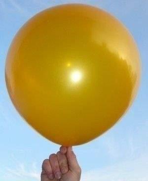 R150 Ø55cm     Gold,  Größe Riesenballon Typ S - unbedruckt, Sonderfarbe
