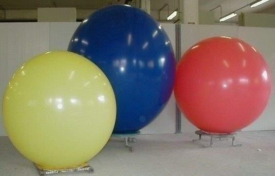 R225  Ø80cm  Größe Riesenballon extra stark, Typ L - unbedruckt, es werden typische Lagerfarben geliefert.