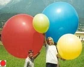 R265  Ø100cm Riesenballon Typ XL -  Ballonfarbe nach Auswahl gemäß unserer Farbtabelle, unbedruckt.