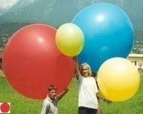 R265  Ø100cm  Größe Riesenballon extra stark, Typ XL - unbedruckt, es werden typische Lagerfarben geliefert.