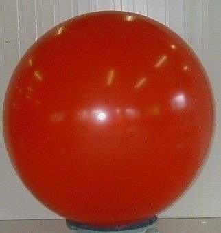 R350 Ø 120cm   ROT,  Größe Typ XXL - unbedruckt, Riesenballon extra stark