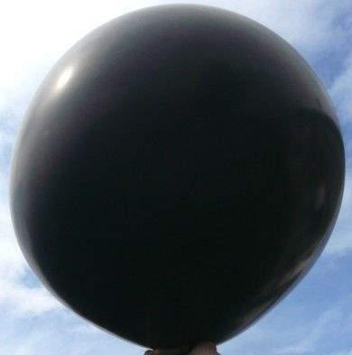 R650 Ø 210cm   SCHWARZ,  Größe Typ XXXXL - unbedruckt, Riesenballon extra stark, Sonderfarbe.