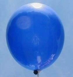 R120U-104-00-0 Rundballon in Blau Ø~40cm extra stark