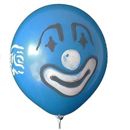 MR150-650 Motiv Clown face printed one site to four site, Balloons assorted