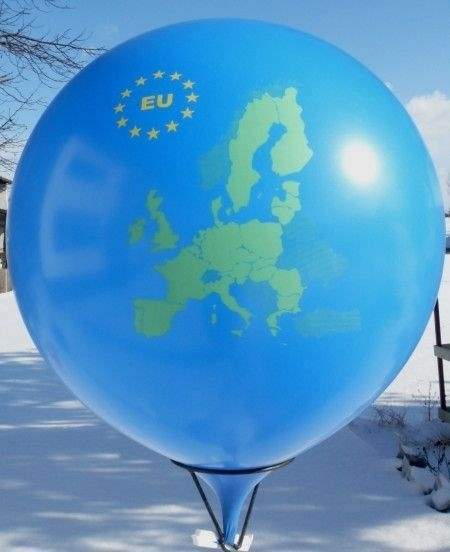 MR150-650 Motiv EU Politisch with star circle printed one site to four site, Balloons assorted