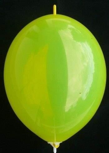 F10U Verbindungsballon ~30cm, GELB, Latexfigur Ballon mit kurzen Kopf-Nippel, unbedruckt ohne Zubehör