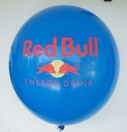 Ø 60cm  ROT, 1seitig - 2farbig bedruckter Riesenballon WR175-12,  Ballonstutzen unten