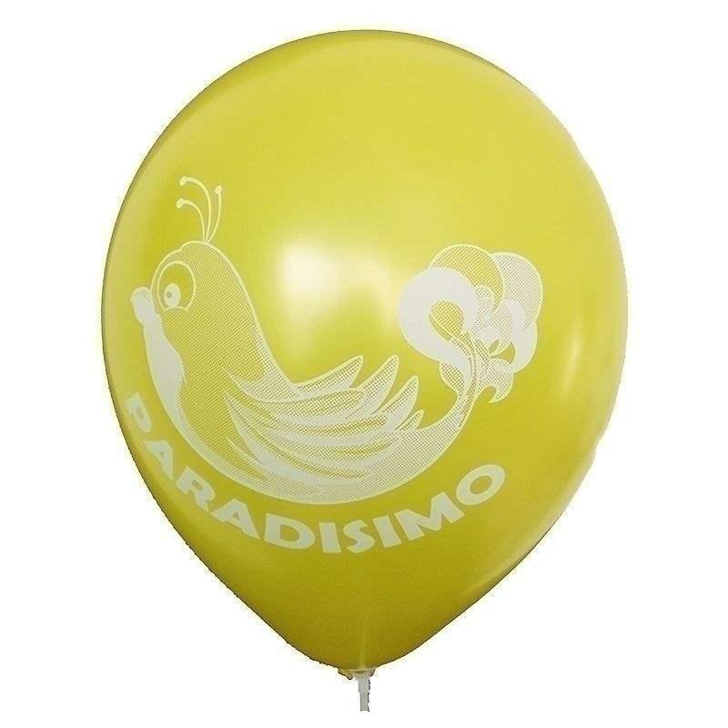 Ø 28-30cm (11inch), GELB  1seitig 1farbig standard bedruckter Werbeluftballon WR110R-11, Ballonstutzen unten