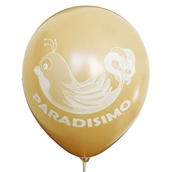 Ø 28-30cm (11inch), LACHS 2seitig 1farbig standard bedruckter Werbeluftballon WR110R-21, Ballonstutzen unten
