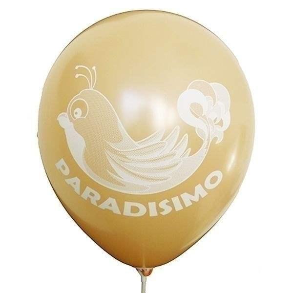 Ø 28-30cm (11inch), LACHS 1seitig 4farbig standard bedruckter Werbeluftballon WR100R-14, Ballonstutzen unten, für Luft und Ballongasfüllung geeignet