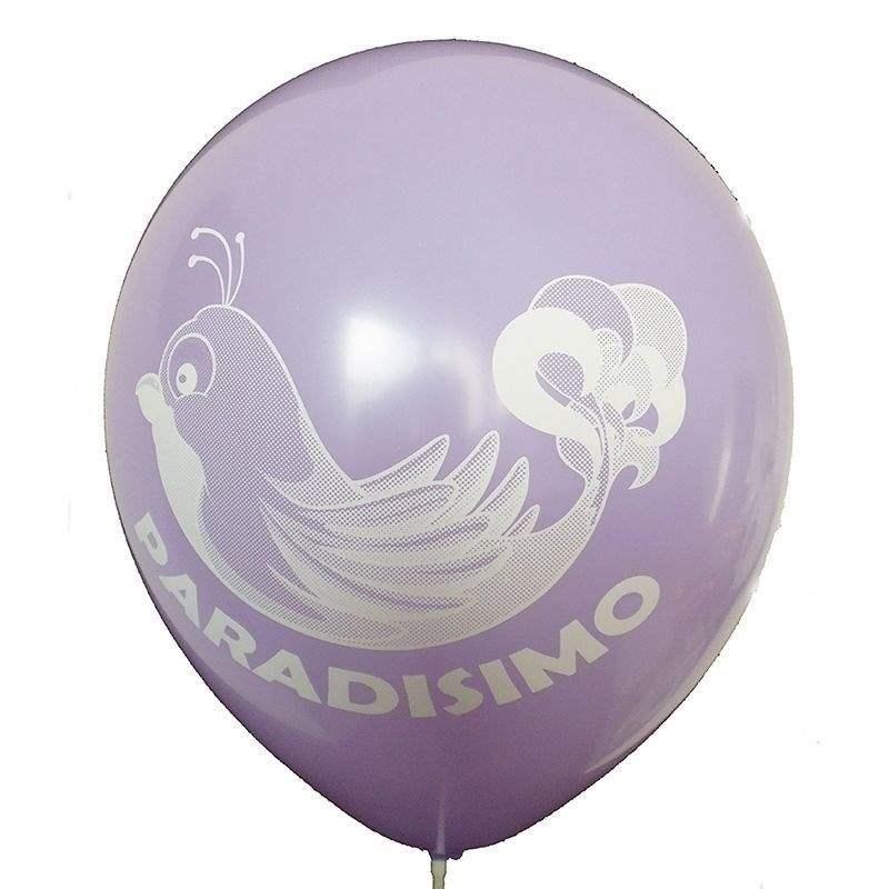 Ø 33cm (12inch) LILA, 2seitig - 1farbig bedruckter Werbeluftballon WR100-21T, Ballonstutzen unten
