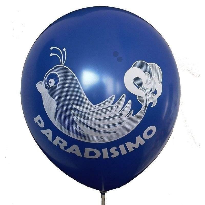 Ø 33cm (12inch) KÖNIGSBLAU, 2seitig - 1farbig bedruckter Werbeluftballon WR100-21T, Ballonstutzen unten