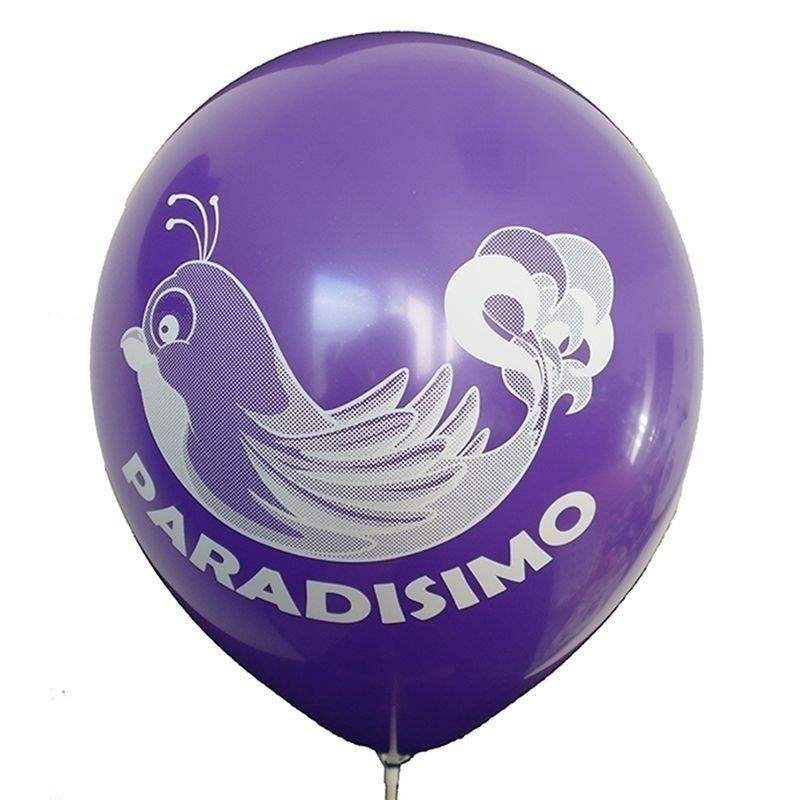 Ø 33cm (12inch) VIOLETT, 2seitig - 1farbig bedruckter Werbeluftballon WR100-21T, Ballonstutzen unten