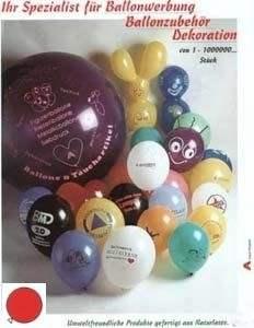 - Sonderangebot - 100/200/500/1000 Stück Ø 33cm Farbe nach Auswahl 1farbig-1seitig individuell bedruckte Ballons