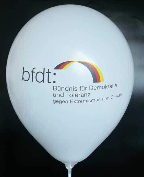 Ø 33cm 3farbig 1-2seitig passgenau bedruckt - Ballonstutzen unten bzw. oben, WR100T-3PD-W individueller Werbeluftballon