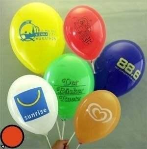 Ø 35cm Bunter MIX, 1seitig 1farbig bedruckter Werbeluftballon WR100B-11,  Ballonstutzen unten