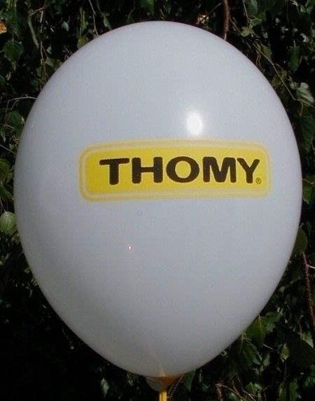 Ø 35cm GOLD mit 1seitigem 1FARBIGEN individuell bedruckten Luftballon, Druckausführung Ballonstutzen unten