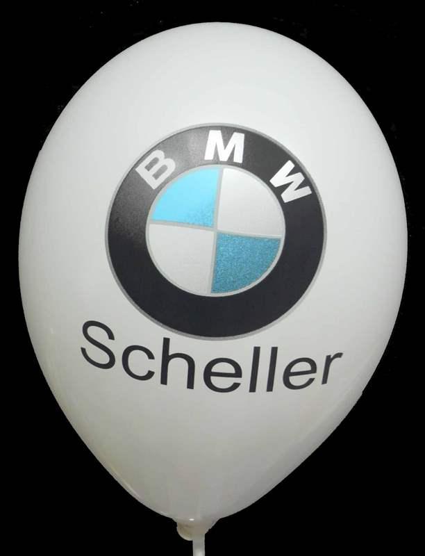 WR135Q-2-W Ø40cm/16inch Ballonfarbe nach Auswahl individuell bedruckt 1-2seitiger Aufruck in Siebdrucktechnik, 2farbig nicht passgenau, Druckfarbe nach Angabe