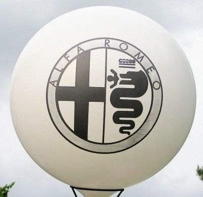Ø 120cm Bunter MIX, 2seitig - 3farbig bedruckt Riesenballon WR350-23,  Ballonstutzen unten