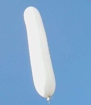 Z060 60cm Riesenzeppelin  BLAU, TYP S Ballonlänge ~60cm Ø34cm, unbedruckt, Lieferung ohne Ballonverschluss unaufgeblasen.